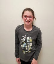 "Emberlyn Stahl was chosen as White Mountain Elementary School's ""Student of the Month"" for December."