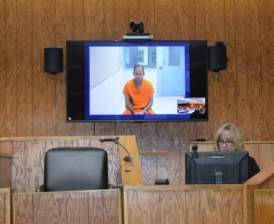 Jason William Dean appeared by video for his arraignment on two CSC charges Thursday, Jan. 30, 2020, in Waterford's 51st District Court.