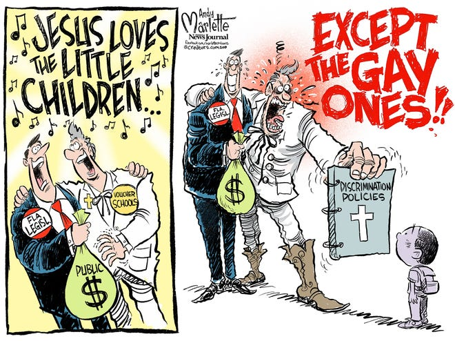 The Orlando Sentinel exposed more than 150 state-sanctioned voucher schools that permit and promote anti-gay policies against Florida children.