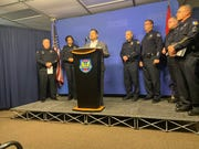 Phoenix police held a press conference on Jan. 30, 2020, to discuss Operation Silent Predator, during which they arrested 27 people on suspicion of child sex crimes.