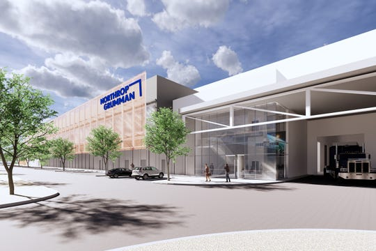 A rendering of the expanded satellite manufacturing facility at Northrop Grumman in Gilbert.