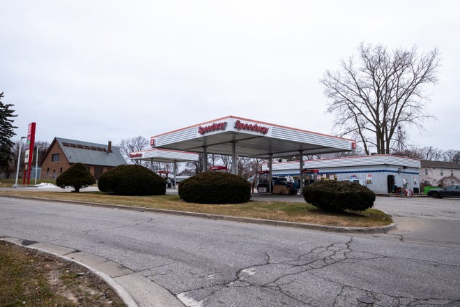 Police are searching for a suspect following an armed assault at the Speedway on Ravenswood Road in Port Huron Wednesday night.