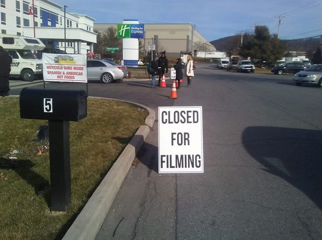 Flory's Mobil off Route 9 is closed for filming on Thursday and Friday.