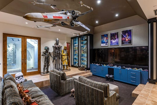 "This super-luxe property in L.A's Hidden Hills is a ""Star Wars"" lovers dream house: It has a tricked out lower level filled with memorabilia from the film franchise."
