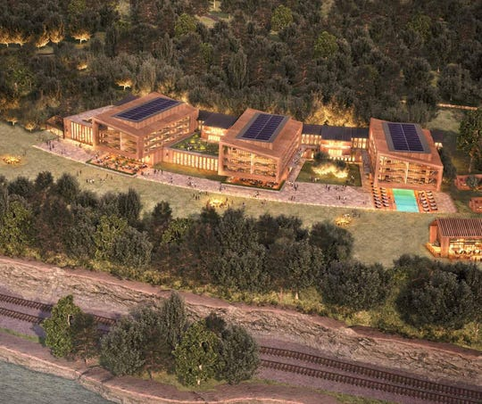 A rendering of the Culinary Institute of America's hotel project as seen in the Mid-Hudson Regional Economic Development Council's 2019 progress report.