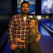 A couple at Spins Bowl in Poughkeepsie.