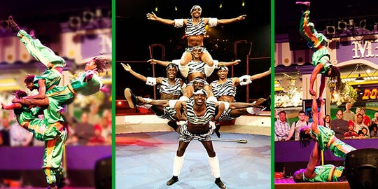 Zuzu Acrobats will perform Feb. 4 at the Pullo Center.