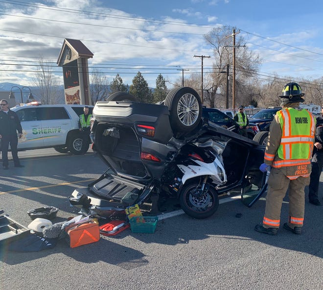 A motorcyclist was killed in a crash on South Virginia Street on Jan. 30.
