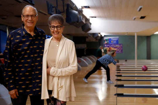 Don and Ann Lebold at Town & Country Lanes in Keizer on Jan. 30, 2020. They are selling the bowling alley after more than 50 years of ownership.