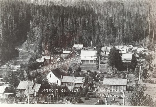 Old Detroit existed from 1880 to 1952, born as a railroad construction camp for workers who built the Oregon Pacific Railroad deep into the state?s forestland.