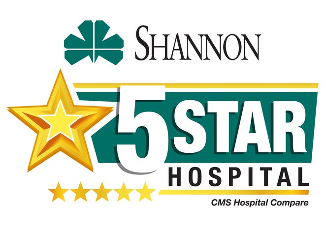 San Angelo's Shannon Medical Center has been awarded 5-star status based on an analysis of reported data from more than 4,500 hospitals nationwide.