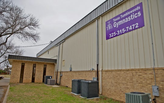 The Texas Tumbleweeds Gymnastics academy, seen here in this Thursday, Jan. 30, 2020 photo, is the subject of a lawsuit filed against the business, the city of San Angelo and the LifePoint Baptist Church.