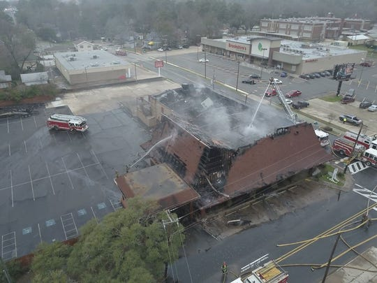 Shreveport Fire Department responded to a fire at the old Don's Seafood building, at the intersection of Highland Avenue and Kings Highway, early Thursday, Jan. 30, 2020.