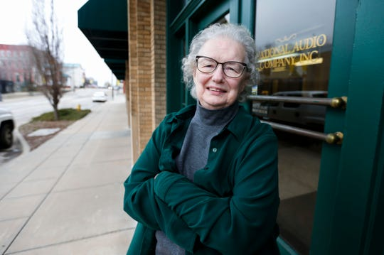 Peggy Stepp owns National Audio Company with her husband.