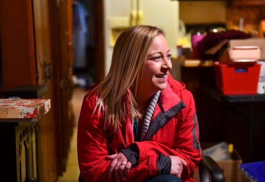 Kelly Brain smiles while talking about why she enjoys working with her mother in her organizing business during an interview Tuesday, Jan. 28, 2020.