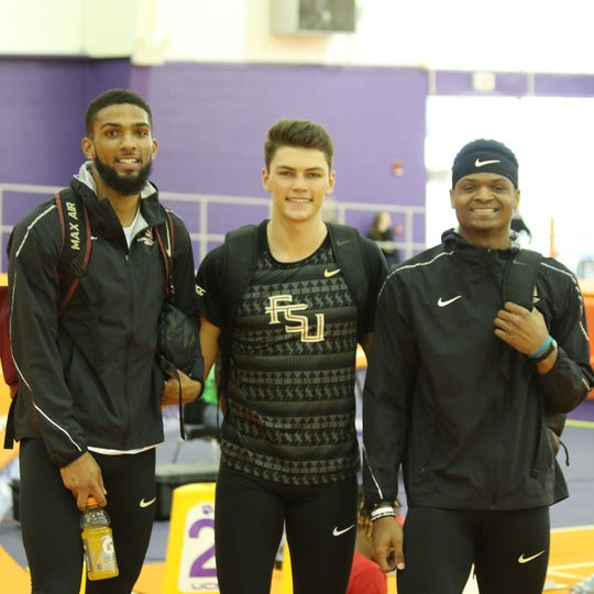 FSU hurdlers Braxton Canady, Trey Cunningham and Caleb Parker are all in position to qualify for NCAA Indoor Championships.