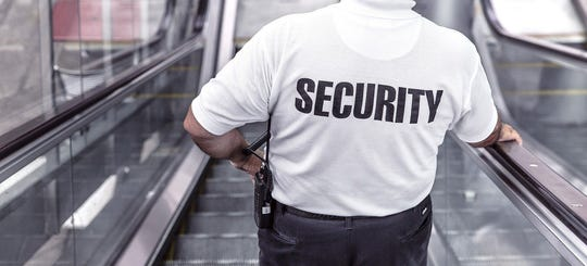 Generic security guard photo.