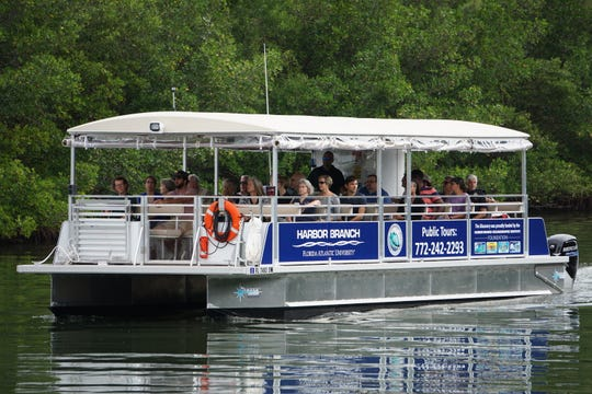 Florida Atlantic University's Harbor Branch Oceanographic Institute in Fort Pierce is launching weekly public research boat tours for the first time in a new, 36-passenger pontoon boat named Discovery.