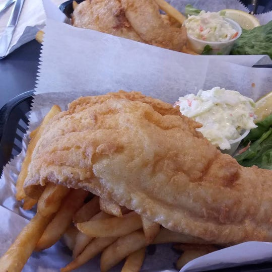 Oasis Diner's fish and chips