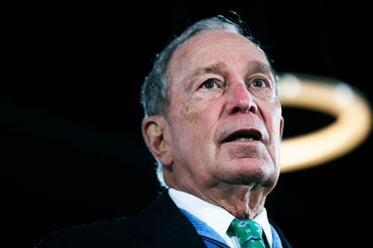 Democratic presidential candidate and former Mayor of New York Mike Bloomberg