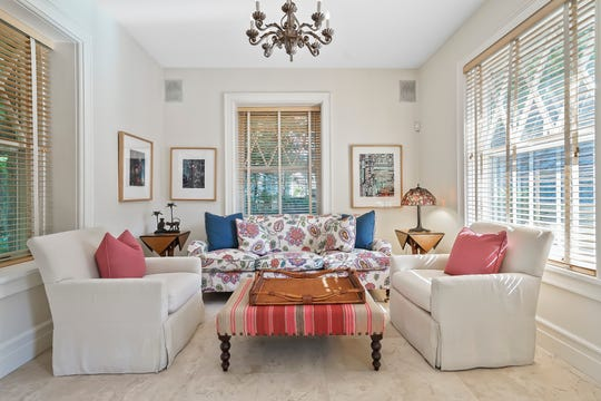 """This Pelham home, now on the market, played host to President Dwight Eisenhower. """"Ike"""" was a friend of a former owner,  William E. Robinson, a New York Herald Tribune executive and later president of Coca-Cola."""