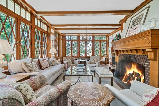 President Dwight Eisenhower was a weekend guest at this Pelham home, now on the market. An earlier structure on the same property was visited by George Washington.