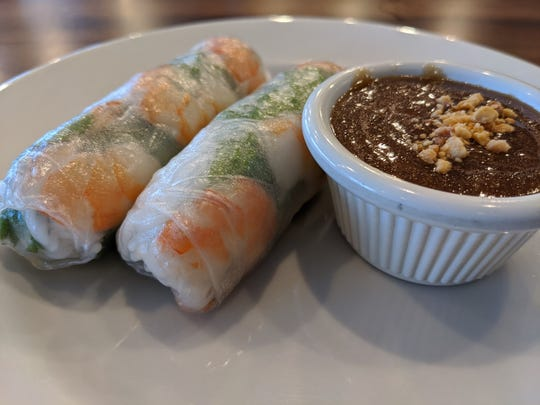Spring rolls with a peanut sauce at Pho Viet.