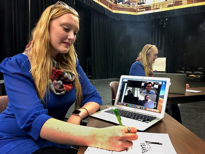 """MSU Texas theater professor Morgan Dayley is directing and staring in the musical """"The Last Five Years,"""" a project where she is experimenting with having auditions and rehearsals online. A one-time, free performance will be at 7:30 p.m. Feb. 21 in the Fain Fine Arts Center."""