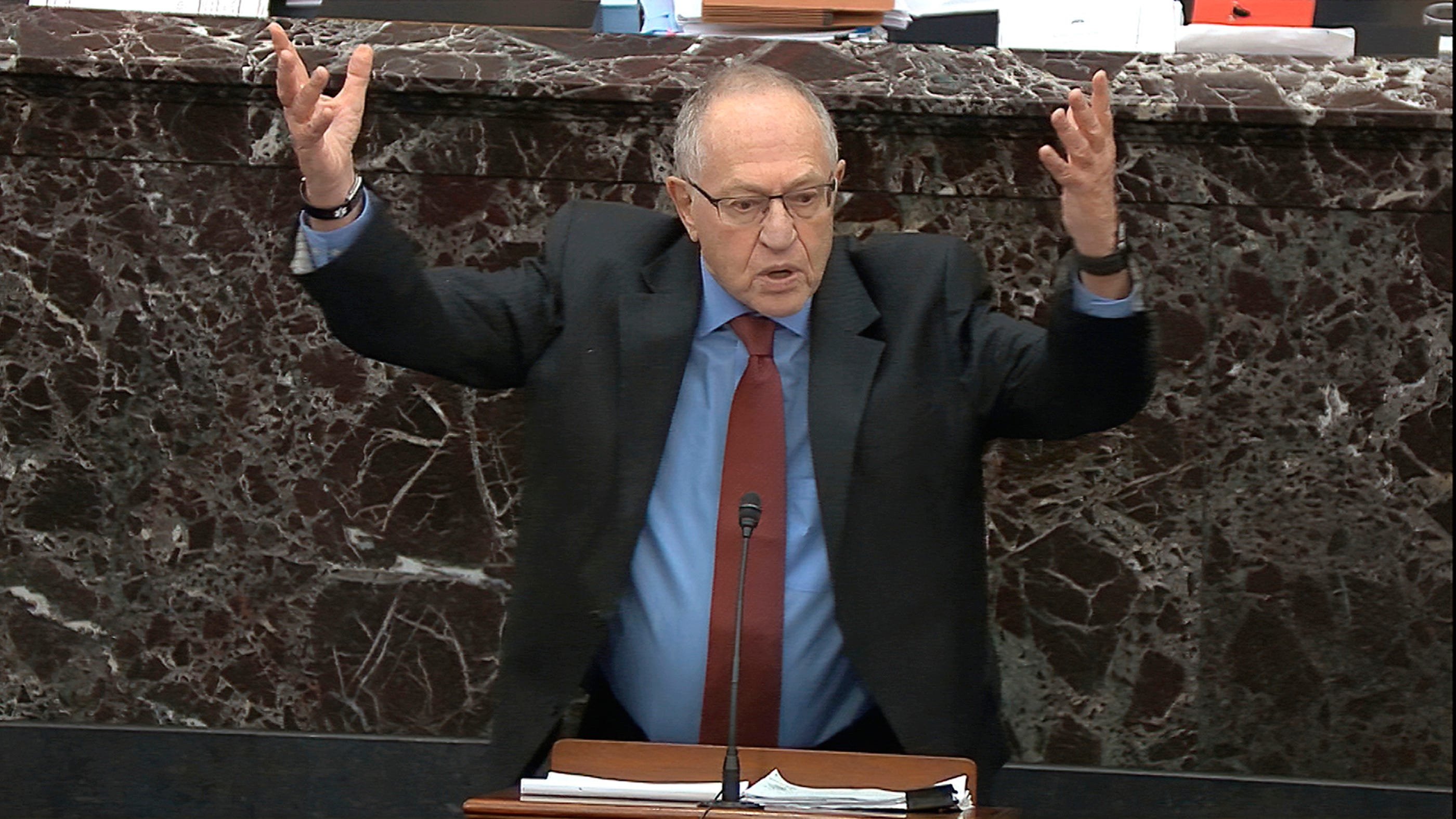 Trump lawyer Dershowitz argues president can't be impeached for an act he thinks will help his re-election thumbnail