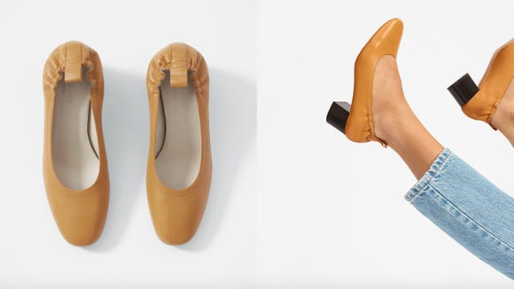 These comfy heels are stylish and perfect for long city walks.