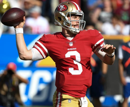 49ers quarterback C.J. Beathard is acting as the team's scouting-team QB this week leading into the Super Bowl.