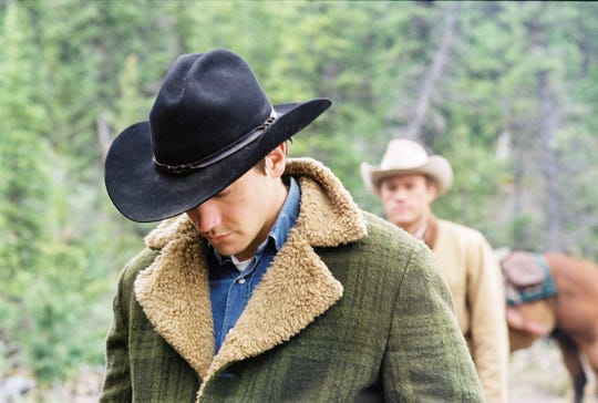 "Jake Gyllenhaal (left) and Heath Ledger were cowboys in love in ""Brokeback Mountain."""