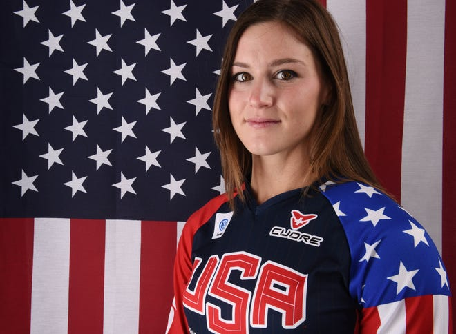 BMX star Alise Willoughby poses for a portrait during the 2016 Team USA Media Summit. She went on to win silver at the Rio Games.