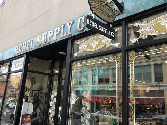 A sign displayed outside Rebel Supply Co. in Asbury Park can stay posted.