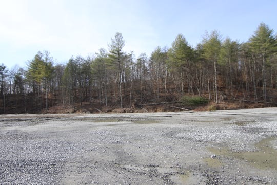 A two-acre site sits ready for a planned asphalt plant inside the McCrary Stone Services quarry in Marshall. No date has been set for an appeal hearing that could overturn the decision of a local board and help clear the way for the facility.