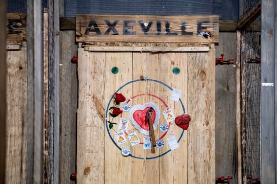 Axeville Throwing Club on New Leicester Highway is one place to relieve yourself of any Valentine's Day frustration.