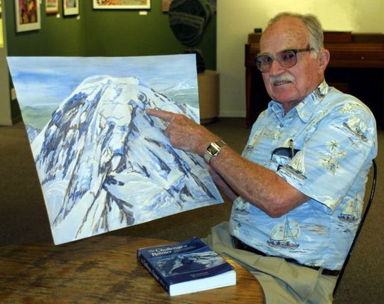 Former Kitsap resident Dee Molenaar died on Jan. 19, 2020 at the age of 101. The author, painter and mountaineer wrote the book, The Challenge of Rainier, in 1971.