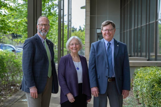 Kitsap County Commissioners (2019), l-r, Rob Gelder, Charlotte Garrido, Ed Wolfe