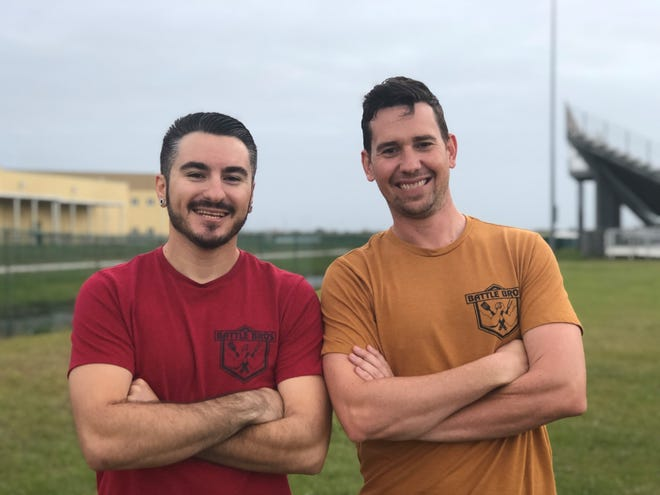 Battle Bros Sean Beck, left, and Jake Schmalenberger have teamed up to create the Space Coast Wing Battle, set for May 22 at Wickham Park.