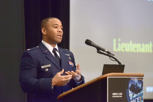 Lt. Col. Walter McMillan with the U.S. Space Force speaks Friday during the 2020 Air Force Contracting Summit at the Sandestin Hilton.