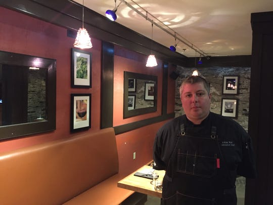 Executive chef Adam Noe in the dining room of NECI on Main in Montpelier on Jan. 29, 2020.