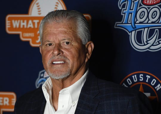 Bobby Cuellar washonored Thursday night with the Lifetime Achievement Award by the Hooks at their annual South Texas Winter Baseball Banquet.