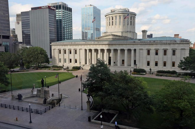 The Ohio Statehouse in Columbus.