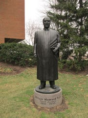 FEBRUARY 10, 2013: Statue of William Howard Taft at the University of Cincinnati College of Law.