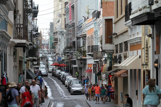 Most of San Juan, Puerto Rico, had its power restored by Jan. 9, 2020, while much of the island was still without.