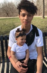 DeVonte Swanks, 19, shown with his daughter Ja'Lyiah in undated family photo. DeVonte was one of three teenagers killed in a shooting Jan. 30, 2020, on Des Moines' southeast side.