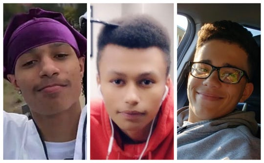 From left, the three Des Moines teenagers killed in a shooting Jan. 30, 2020, on the city's southeast side: Devonte Swanks, 19; Malachi Swanks, 16; and Thayne Wright, 15.