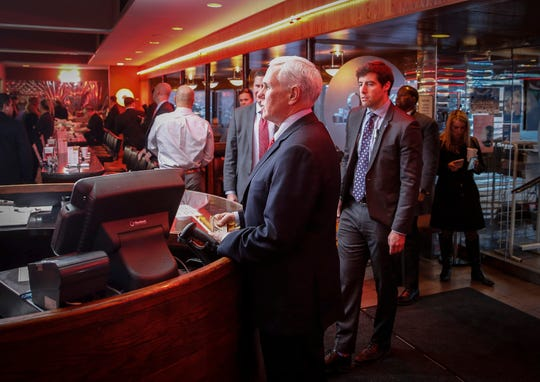 Vice President Mike Pence made a quick stop for food at Drake Diner on Thursday.