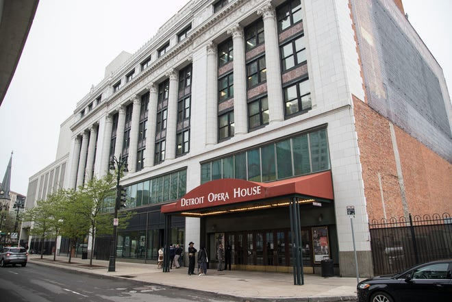 Detroit Opera House on Broadway Street in downtown Detroit, Saturday, May 12, 2018.