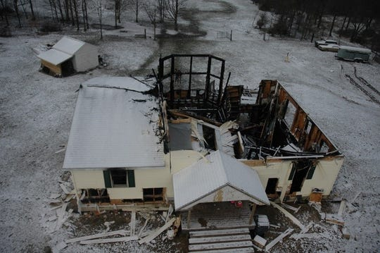 Linda Stermer's burnt house near Kalamazoo, MI.